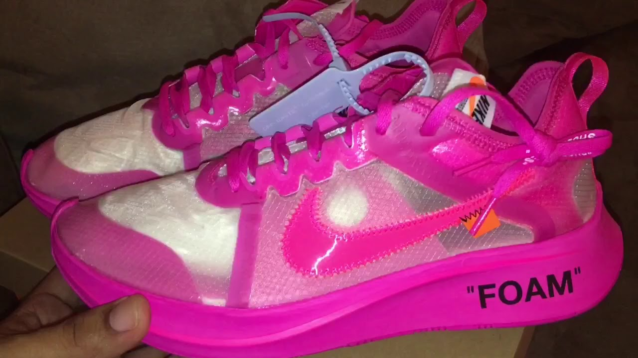 ee278e2f18a34 The Ten   Nike Zoom Fly SP (Off-White) Tulip Pink Unboxing   Up Close Look!