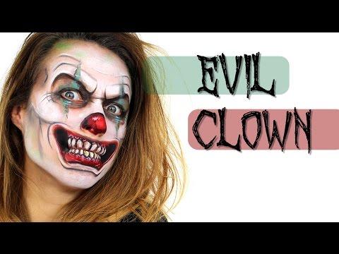Evil Clown Face Painting | Ashlea Henson