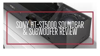 SONY HTST5000 SOUNDBAR & SUBWOOFER REVIEW | Henry Reviews
