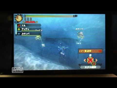 【MH3G】 水中しゃがみバグ 【ヘビィ】