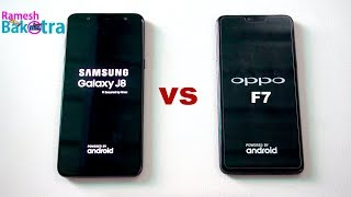 Samsung Galaxy J8 vs Oppo F7 SpeedTest and Camera Comparison