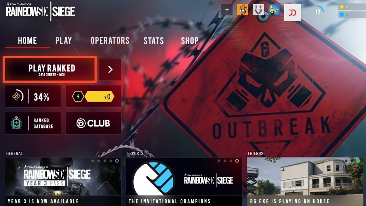Rainbow Six Siege Main Menu Ui Outbreak Redesign Concept By