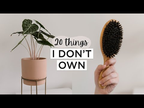 20 Common Things I DON'T Own | Minimalism & Intentional Living