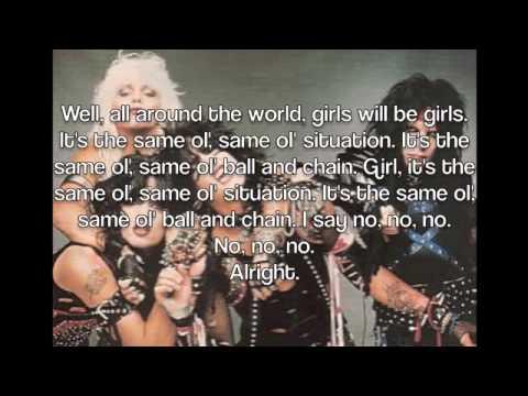 Same Ol' Situation by Motley Crue Lyrics