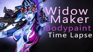 Widowmaker - Overwatch! Body Paint Tutorial Time Lapse