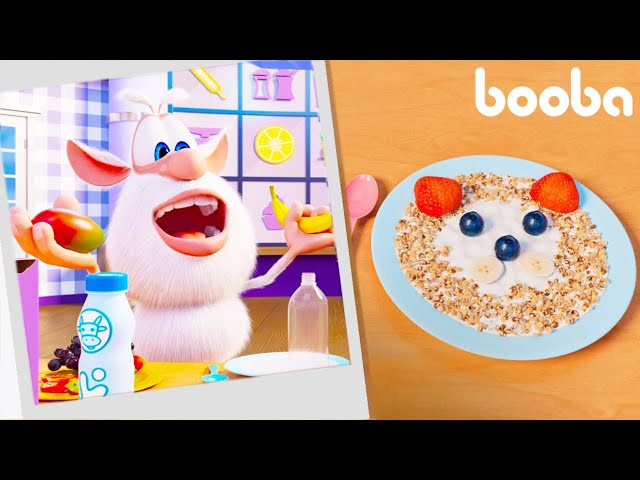 Booba 🙂 Puzzle Makanan 💥 Wajah yogurt ✨ Kartun Untuk Anak-Anak ⭐ Super Toons TV Bahasa