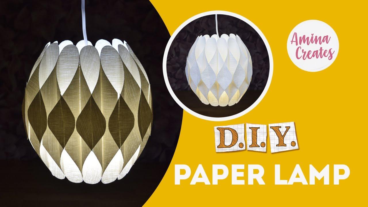 ЛЮСТРА своими руками. Как сделать ПРОСТОЙ светильник из бумаги?