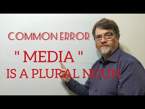 Tutor Nick P Lesson (132) Media Is A Plural Noun