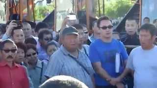 В Якутске прошел митинг против мигрантов