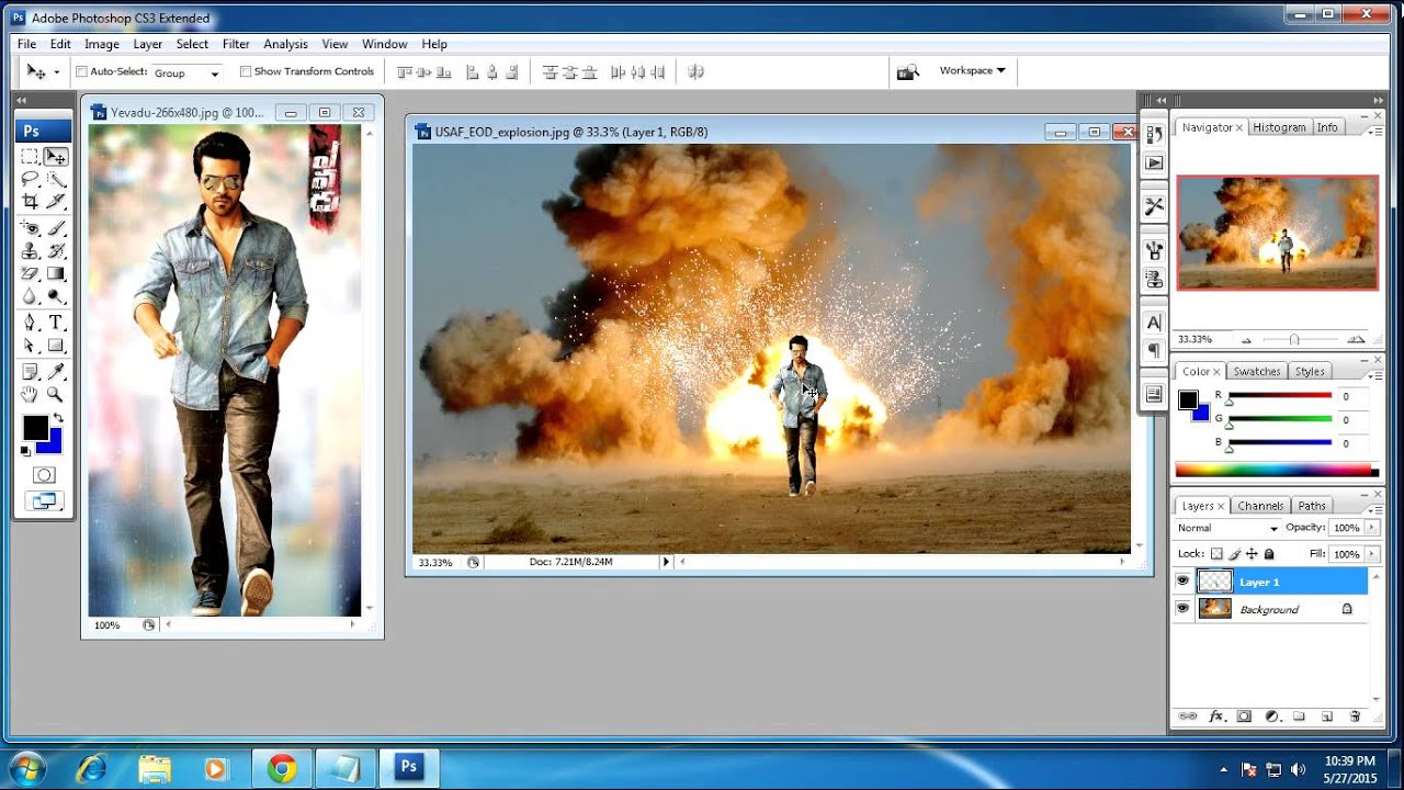 how to get rid of background in photoshop cs3