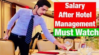 Salary per month in Hotel Industry || Syed Kazim