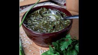 Балва - Суп из листьев мальвы ( просвирник) Азербайджанская еда