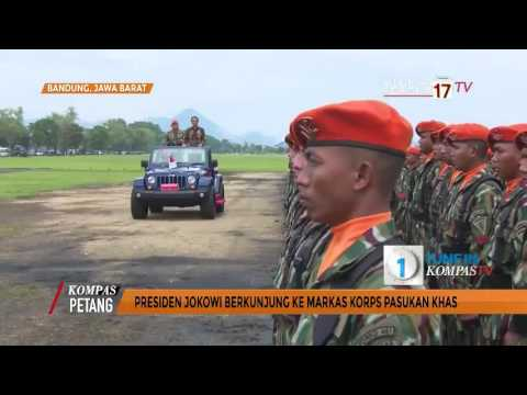 Jokowi Berkunjung Ke Markas Korps Pasukan Khas