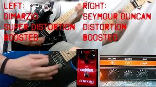 Pickups Comparison - DiMarzio DP100 Super Distortion vs Seymour Duncan SH6 Distortion