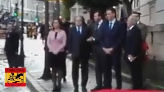 Monumental pitada al OCUPA Pedro Sanchez en Valladolid