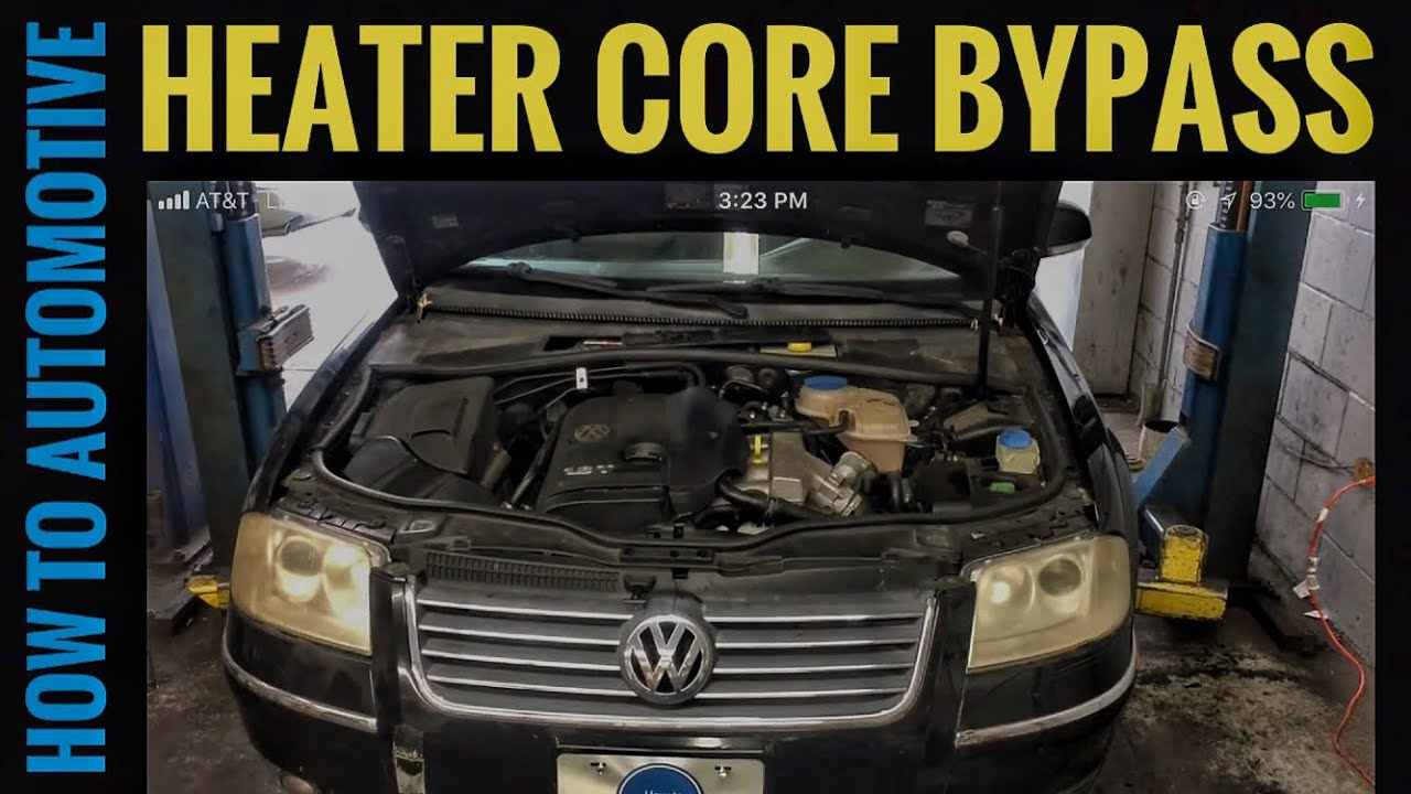 How To Byp The Heater Core On A Volkswagen B5 Pat 1 8 Turbo