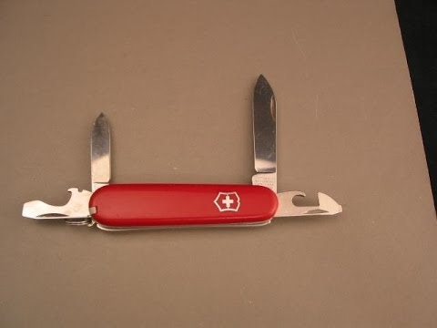 victorinox swiss army knife can opener youtube. Black Bedroom Furniture Sets. Home Design Ideas