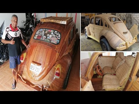 'From Peru to NYC' Dad Built And Drive Wooden VW Beetle For Daughter's 17th Birthday