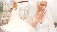 TRYING ON WEDDING DRESSES | Gigi