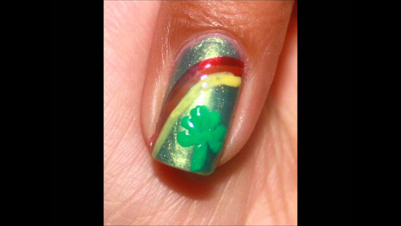 Nail Art Ideas shamrock nail art tutorial : shamrock nail art tutorial - YouTube