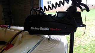 MotorGuide W55 Review - Barely Wireless with 55lbs thrust w/54