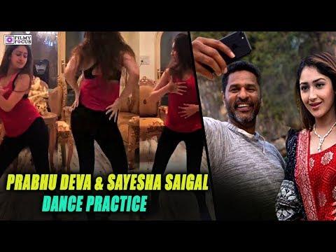 Vanamagan Heroine dance practice | Prabhu Deva & Sayesha Saigal dance practice for 'DAMN DAMN' song