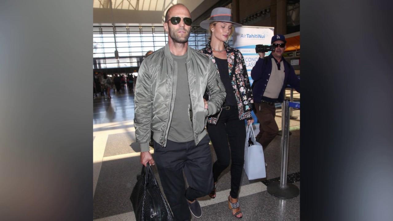 Model Rosie Huntington-Whiteley and Actor Jason Statham ...