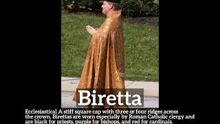 How to Say Biretta in English? | What is Biretta? | How Does Biretta Look?
