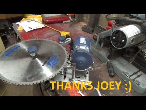 Saw blade sharpener is here today   Thanks Joey   lets try sharpening blades