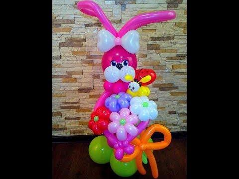 Как сделать зайца из шаров,ЗАЙЧИК из воздушных шаров/the hare-rabbit of balls
