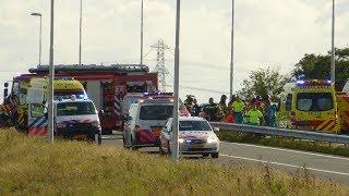 Veel hulpdiensten ingezet bij ernstig ongeval N57 Vierpolders
