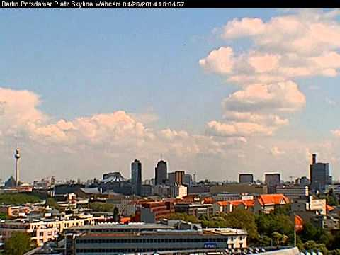 Berlin Skyline Potsdamer Platz Webcam Timelapse April 26 2014