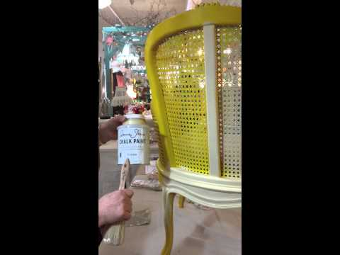 Painting cane with Chalk Paint®
