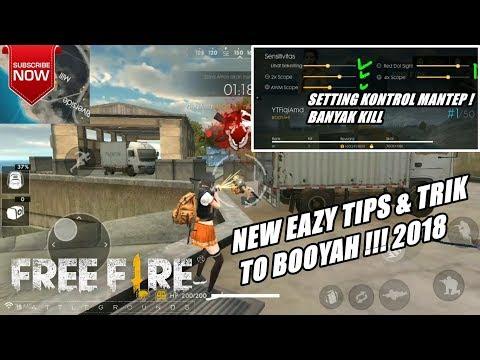 TRIK DAN TIPS EASY BOOYAH + SETTING KONTROL TERBAIK di Free Fire Garena !