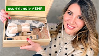 ASMR - Tapping on eco-friendly items + sharing doable tips to help the planet 🌎