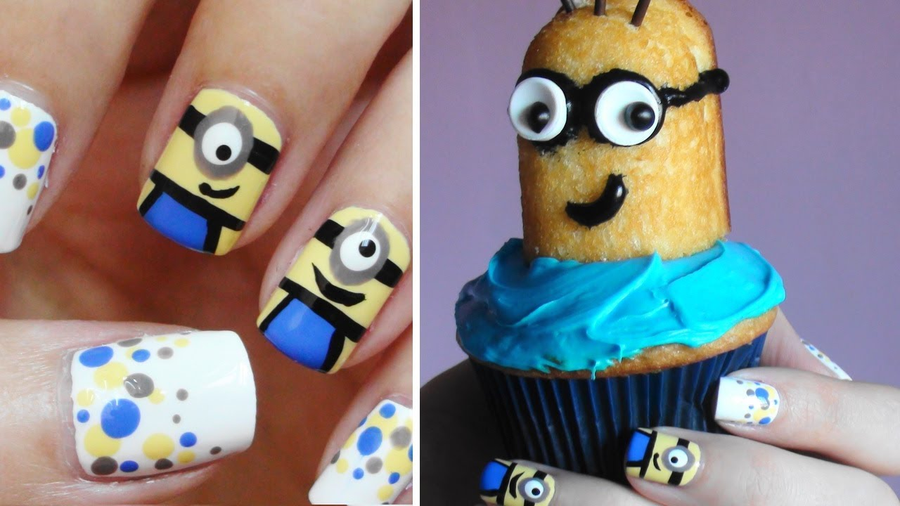 - Minion Nails + Minion CUPCAKES!!! - YouTube