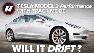 Testing the Tesla Model 3's new Track Mode: Will it drift?