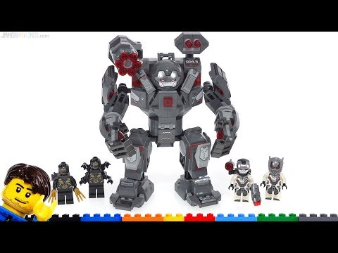 LEGO Marvel Avengers Endgame War Machine Buster review 76124