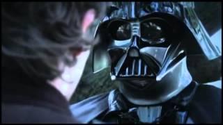 Поединок Дарта Вейдера с волшебником Гендальфом.