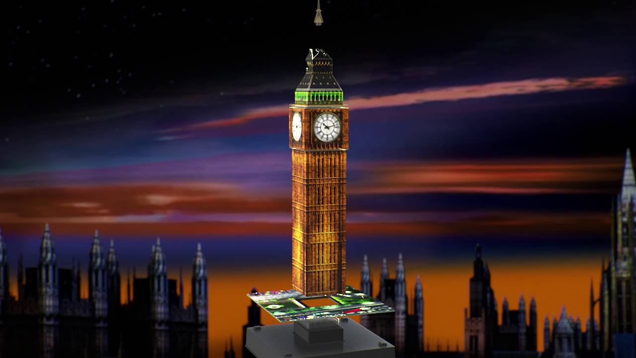 Smyths Toys - Ravensburger Big Ben 3D Puzzle Night Edition