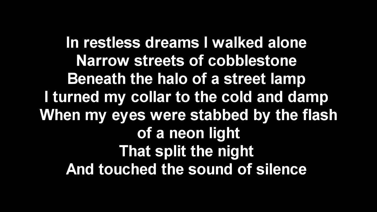 Sounds Of Silence Lyrics by Simon & Garfunkel