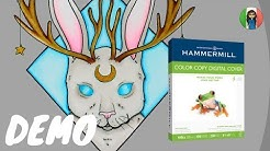 HAMMERMILL PAPER REVIEW and COPIC ILLUSTRATION