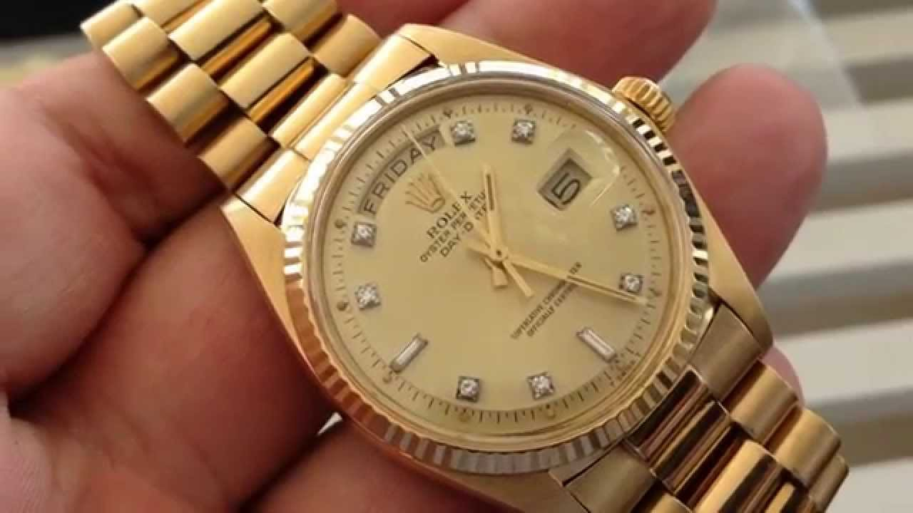 f4903885abe RARE VINTAGE ROLEX PRESIDENT 1803 - Day Date - YouTube