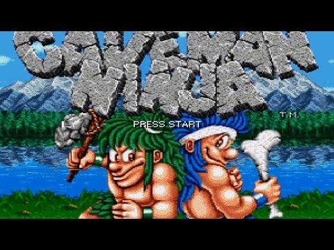 Joe & Mac SNES Co op Pt 2 Playthrough Longplay 2 Players Super Nintendo