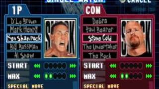 WWF SmackDown! - All Characters