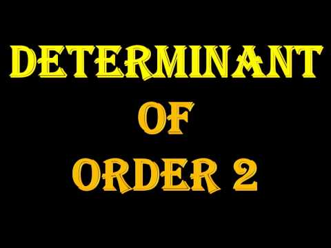 DETERMINANT    Introduction  Useful For Class 10, 11, 12, Diploma Sem1 Enginnering