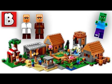 Lego Minecraft The Village Set 21128 | Unbox Build Time Lapse Review
