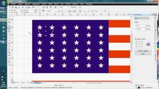 Exercise for Corel Draw - Flag of the United States