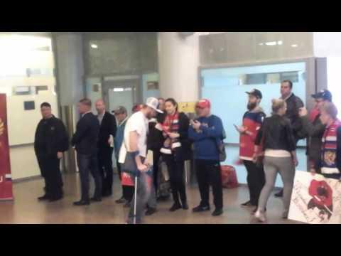 Сборная России по хоккею вернулась в Москву с чемпионата мира