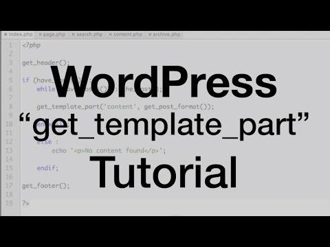 wordpress get template part tutorial youtube